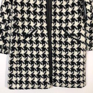 Zara Jackets & Coats - NWOT Zara Houndstooth Wool Blend Coat